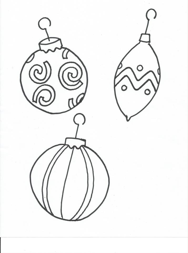 715x960 Christmas Ornament Coloring Page For Kids After School Program