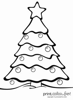 236x325 Christmas Tree Template With Shapes (Star, Square, Triangle)