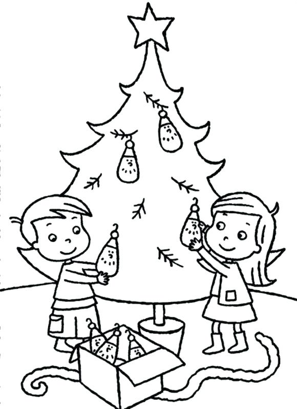 580x798 Coloring Christmas Tree Tree Coloring Tree Coloring Pages To Print