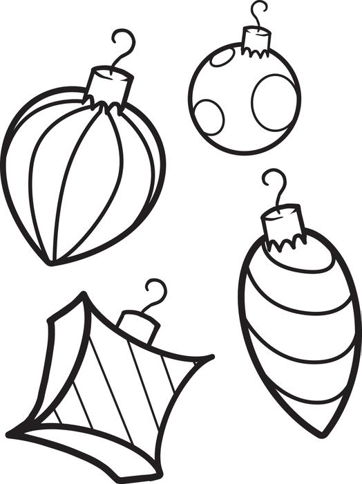 524x700 Free Printable Christmas Ornaments Coloring Page For Kids
