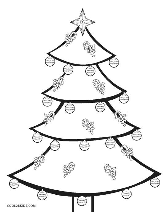 539x685 Printable Christmas Tree Coloring Pages For Kids Cool2bkids