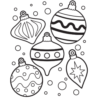 340x340 Christmas Decoration Coloring Christmas Decoration Coloring Sheets