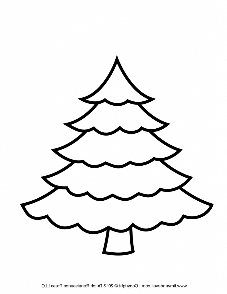 791x1024 Christmas Coloring Pages Excellent Tree Drawing How To