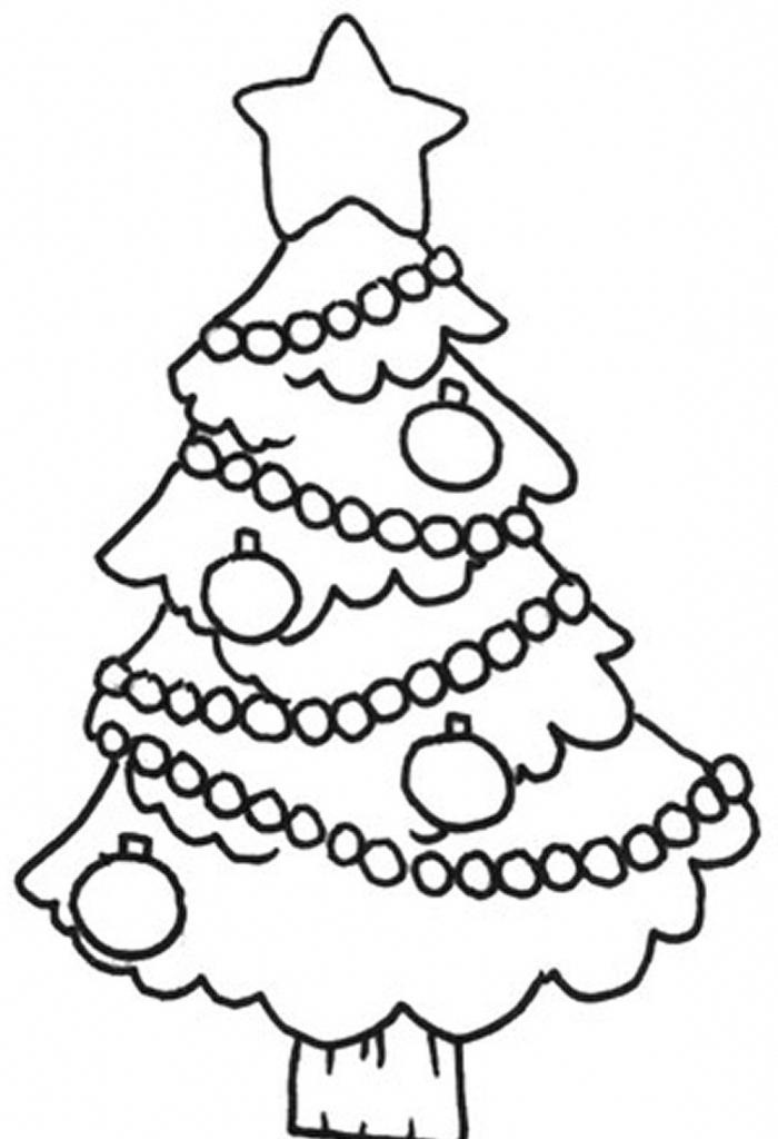700x1024 Easy Christmas Tree Drawing Christmas Tree Coloring Pages Coloring