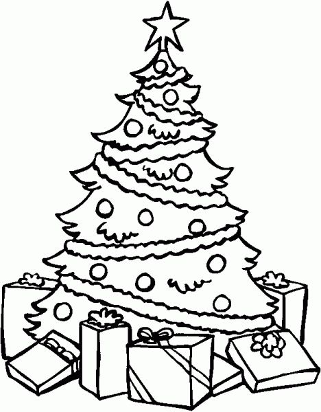 468x600 Pictures Christmas Tree Drawing Pictures,