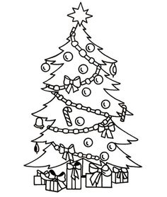 236x278 Christmas Tree Drawing