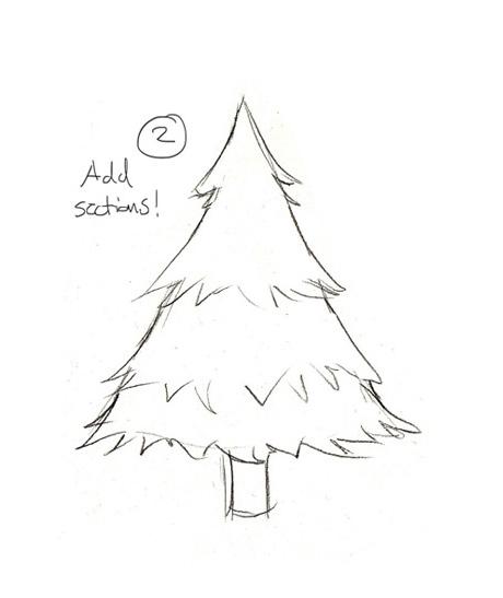Christmas Tree Drawing Easy At Getdrawings Com