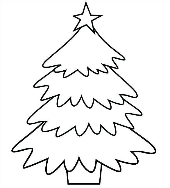 585x644 Christmas Tree Coloring Pages Tree For Coloring Trees Printable