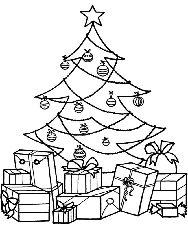 Christmas Tree Drawing For Coloring at GetDrawingscom Free for