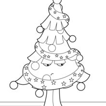220x220 Decorated Christmas Tree Coloring Pages