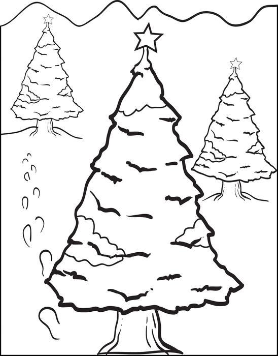 548x700 FREE Printable Christmas Tree Coloring Page For Kids