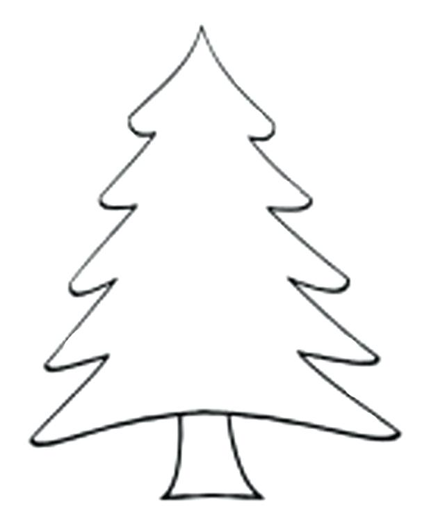 620x755 Free Printable Christmas Tree Coloring Pages Tree Color Page