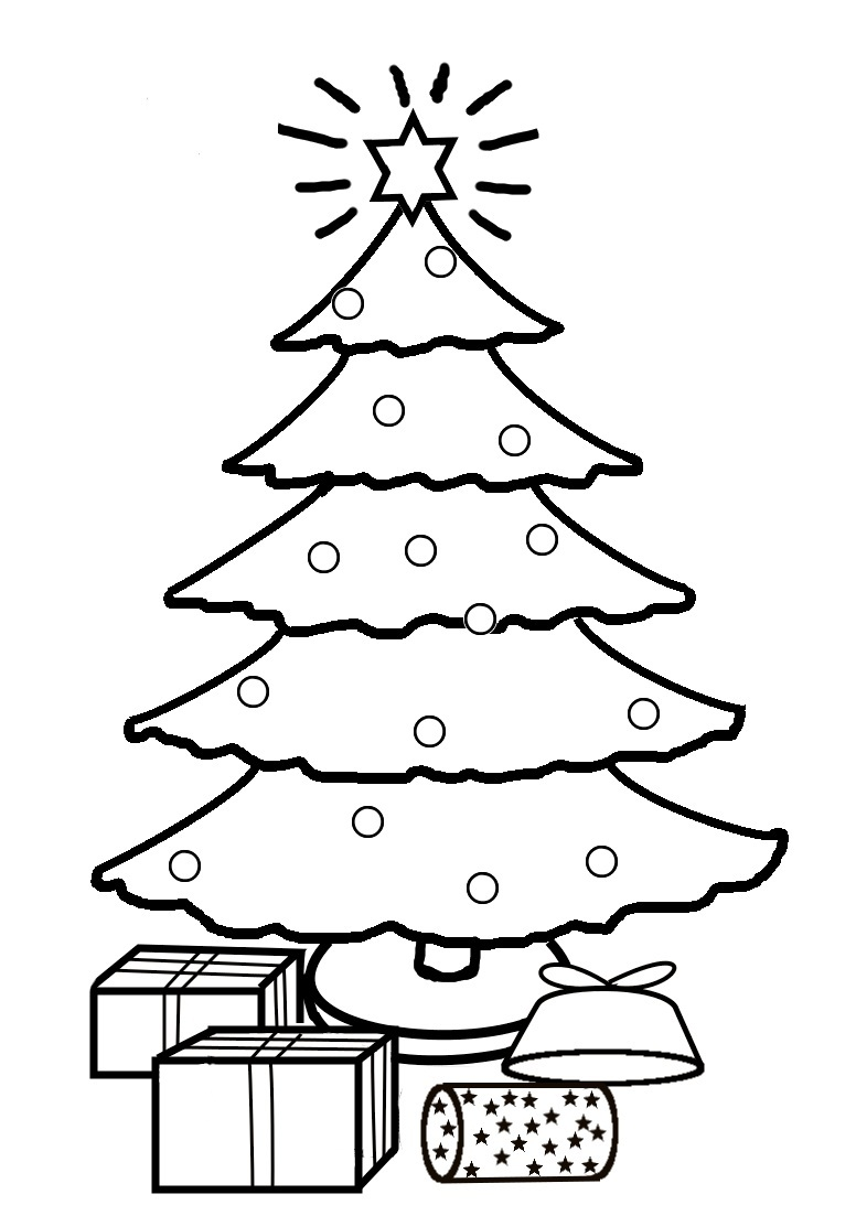776x1093 Christmas Tree Coloring Pages Wallpapers9