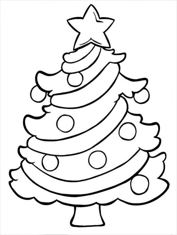 Christmas Tree Drawing Image