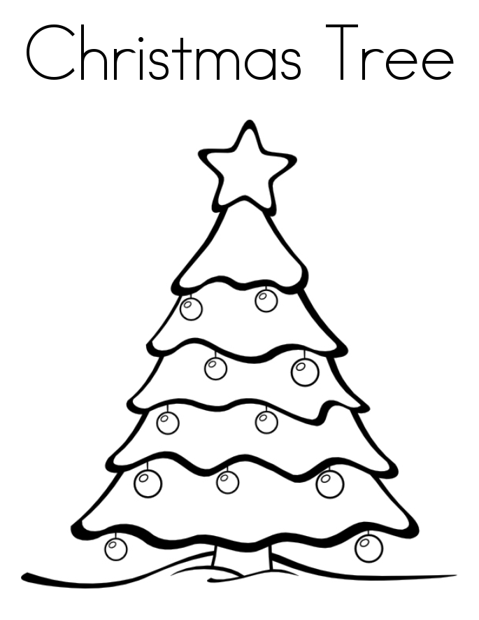 685x886 Christmas Tree Drawing Coloring ~ Child Coloring