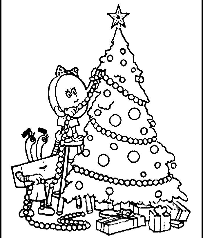 700x823 Christmas Tree Drawing Outline