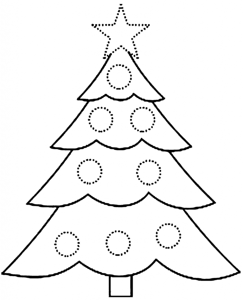 827x1024 How To Draw A Christmas Tree