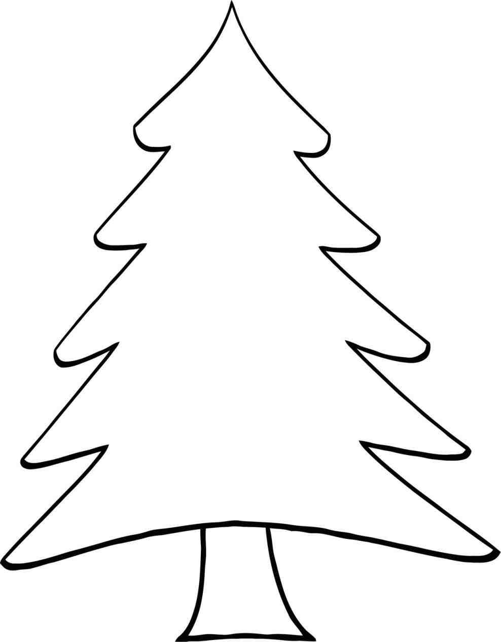 988x1264 Pictures Christmas Tree Drawing Outline,