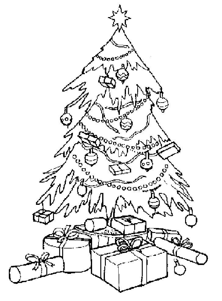 728x986 christmas tree drawing535659 - Coloring Christmas Tree