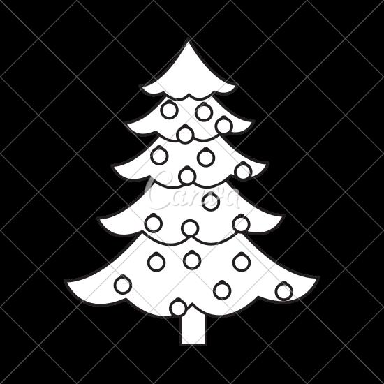 550x550 Christmas Tree Pine Decoration Balls Outline