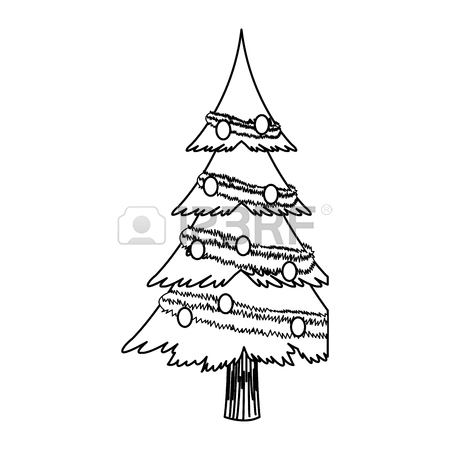 christmas tree drawing outline at getdrawings   free for
