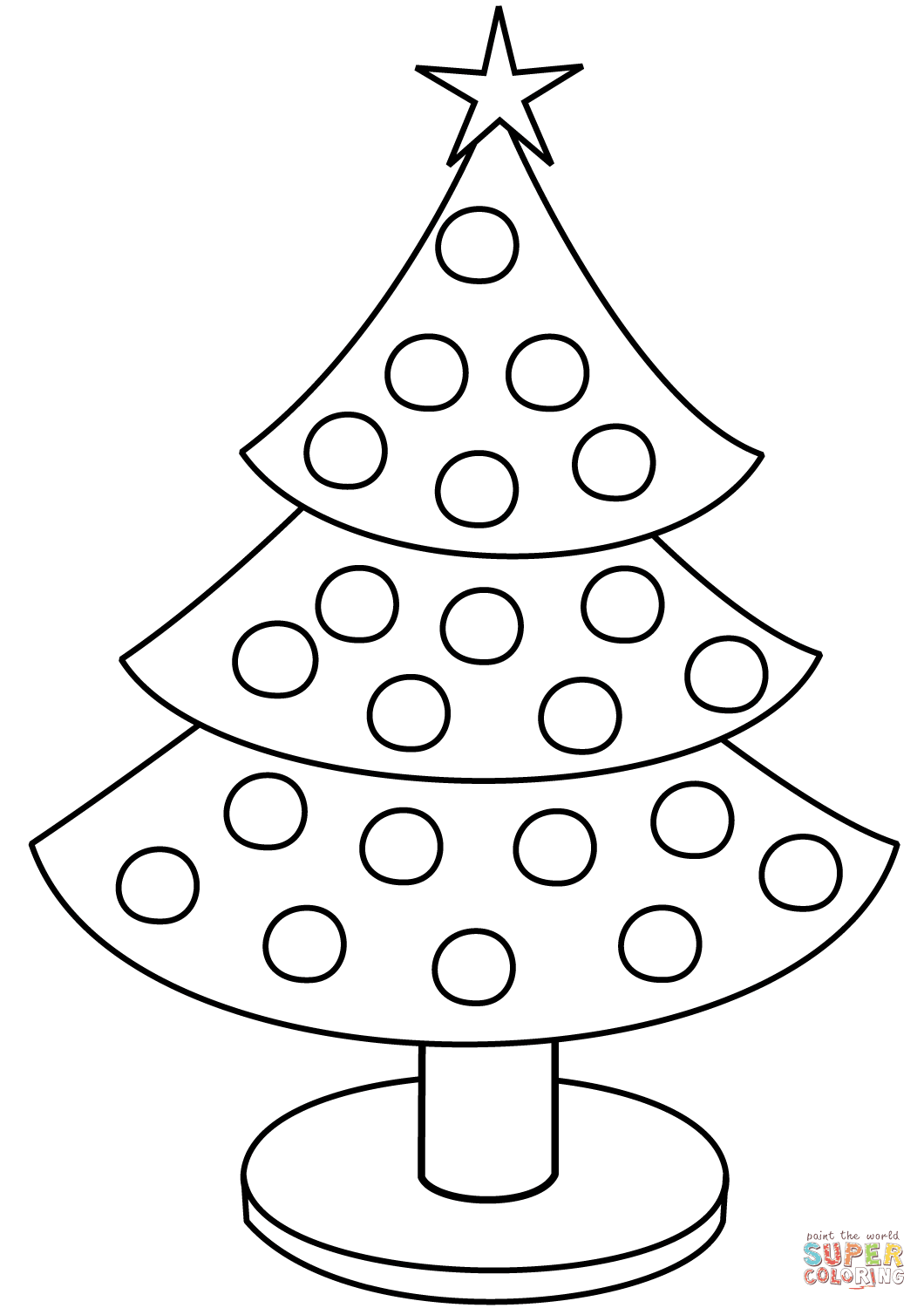 1060x1500 Christmas Tree Coloring Page Free Printable Coloring Pages