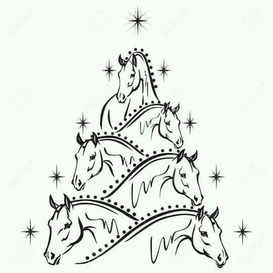 540x540 Horse Christmas Tree Horse Pictures Christmas Tree