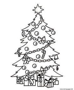 How To Draw A Realistic Christmas Tree.Christmas Tree Drawing Realistic At Getdrawings Com Free
