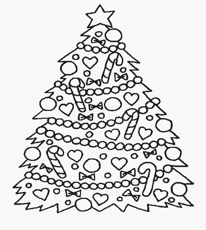 675x756 Christmas Tree Kids Coloring Pages Realistic Coloring Pages