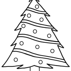 300x300 Christmas Trees With Stars Background Coloring Pages Color Luna