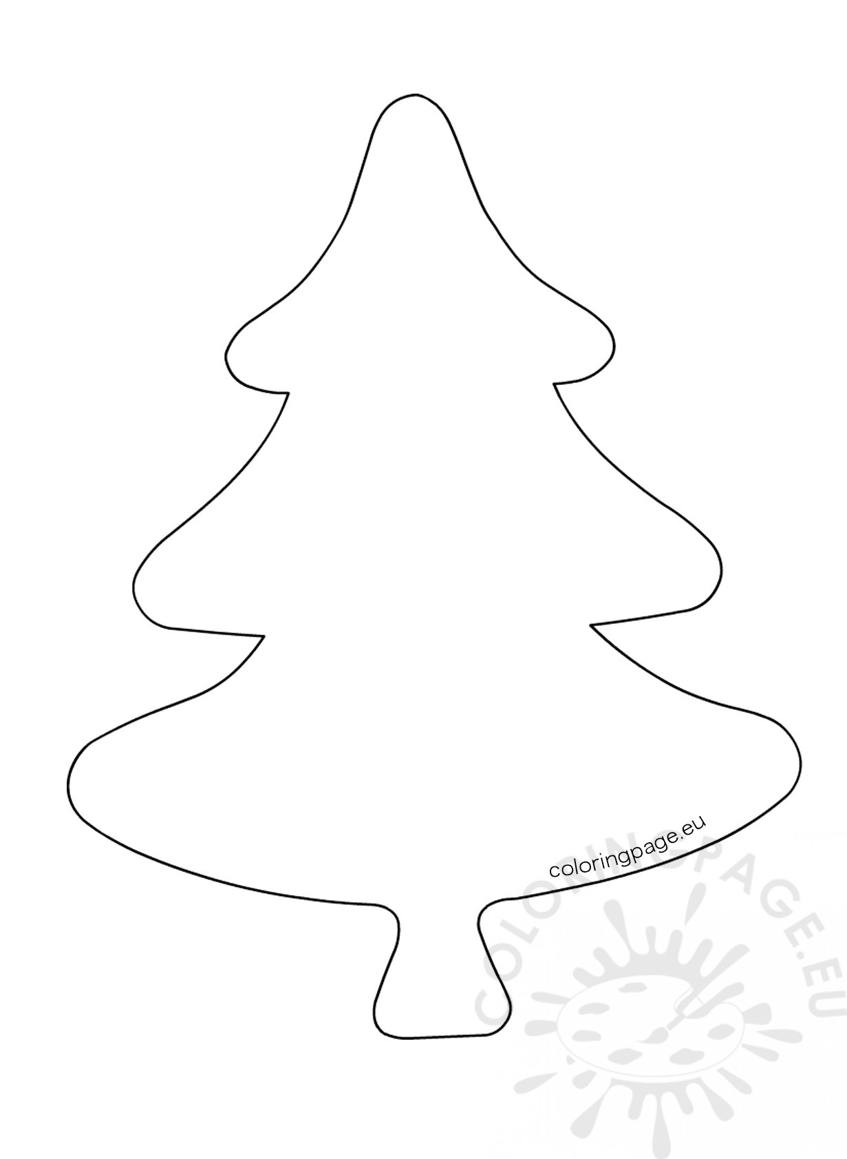 Christmas Tree Drawing Template at GetDrawings.com | Free for ...