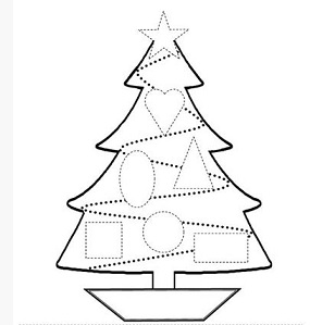 Christmas tree drawing template at getdrawings free for 285x299 free make a santa reindeer elf christmas tree diy maxwellsz