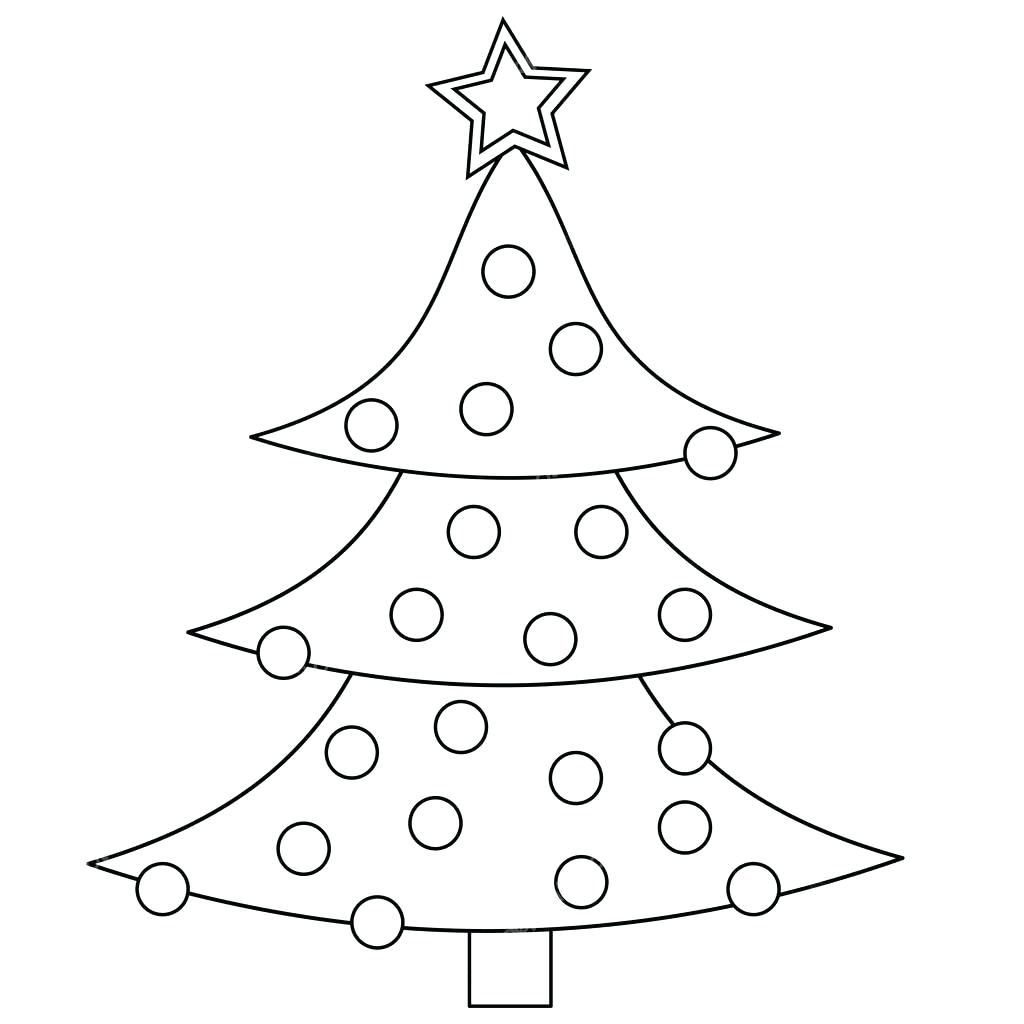 1024x1024 Coloring Christmas Tree Pictures Template Pages Online