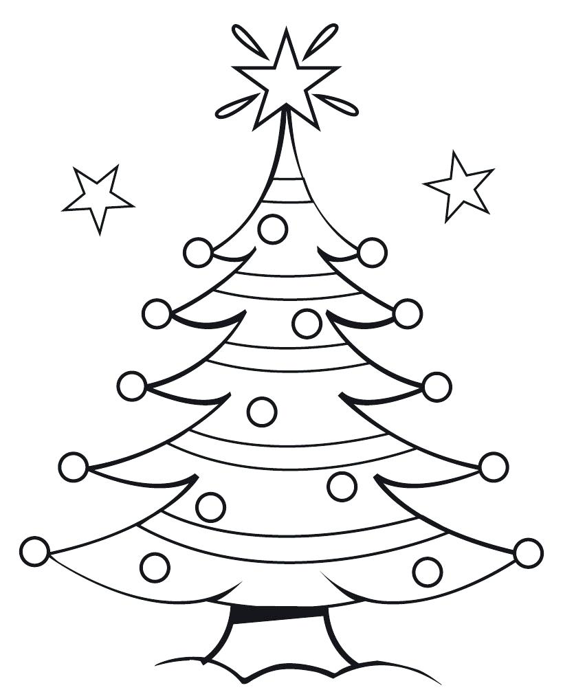 Christmas Tree Drawing Template at GetDrawings | Free download