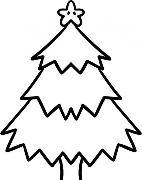 500x632 Christmas Tree Which Is Cool And Funny Coloring Page It Works