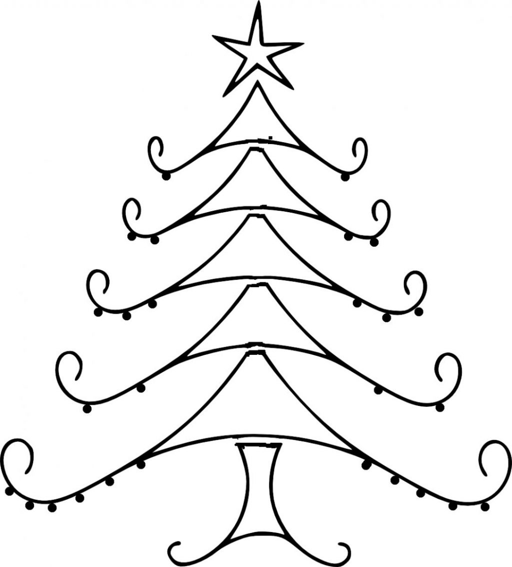 1024x1133 Christmas ~ Christmas Drawings Tree Drawing S Free Download Clip