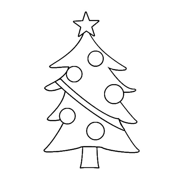 600x600 Drawing Christmas Trees Coloring Pages Color Luna