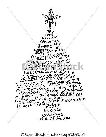 362x470 Drawn Tree Christmas