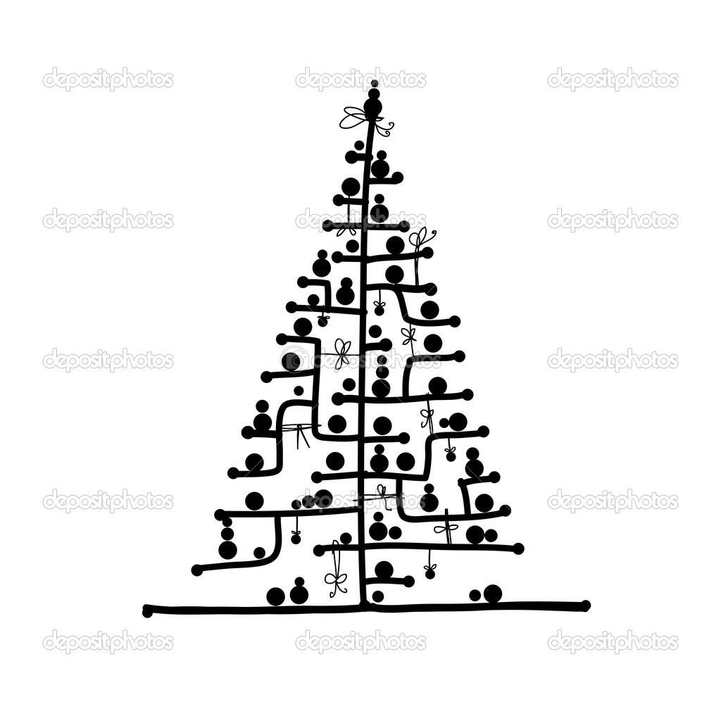 1024x1024 Interesting Christmas Tree Drawings