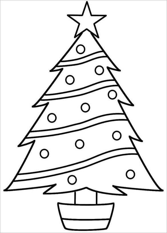 585x814 Tree Drawing Template Coloring Pages For Children Coloring
