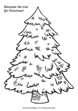 320x455 Christmas Tree Drawing
