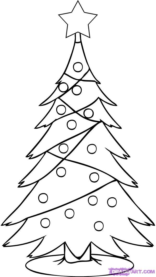 650x1148 Christmas Tree Drawing Photozzle