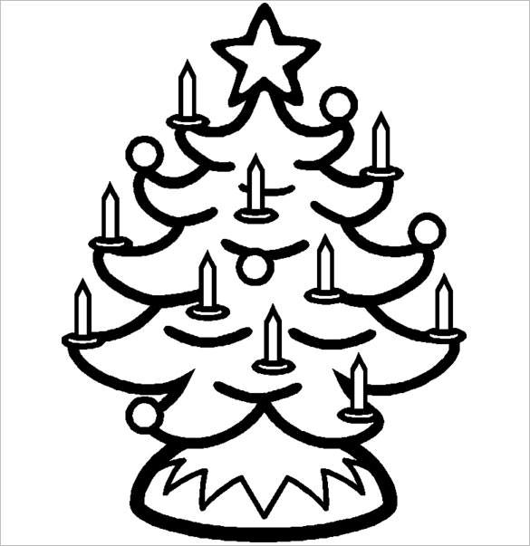585x603 Christmas Tree Templates