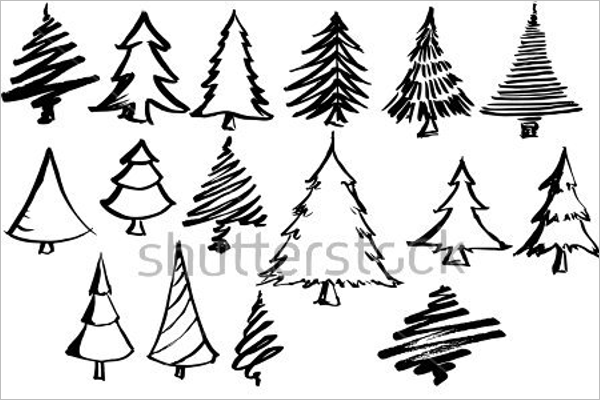 600x400 Christmas Tree Drawing Easy Ideas For Kids Creative Template