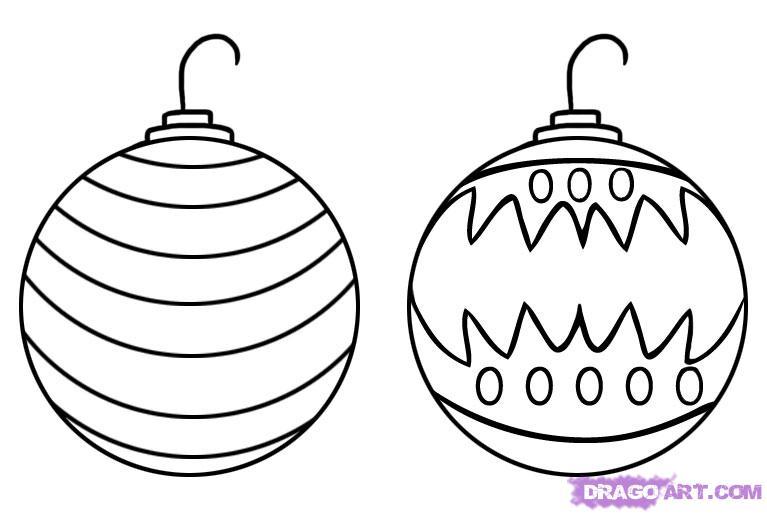 767x514 Christmas Tree Ornament Drawings Happy Holidays