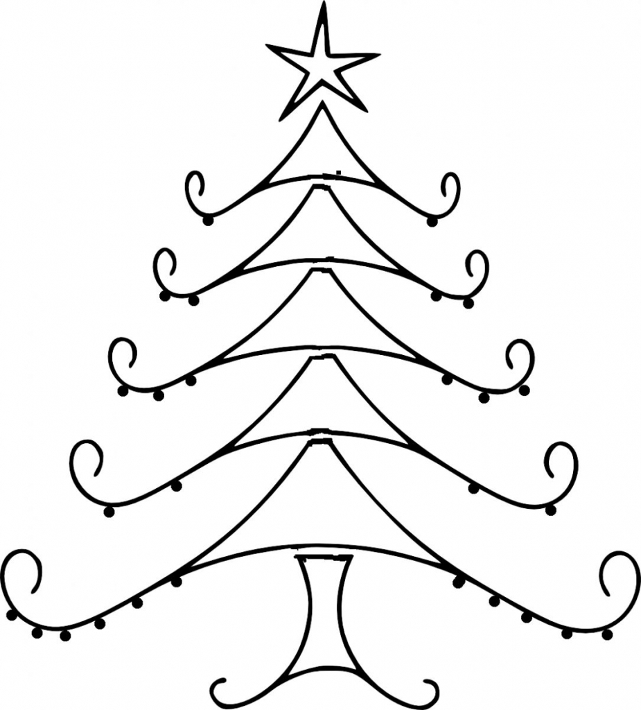 925x1024 Best Drawing Of Christmas Images Of Christmas Tree Drawing Best