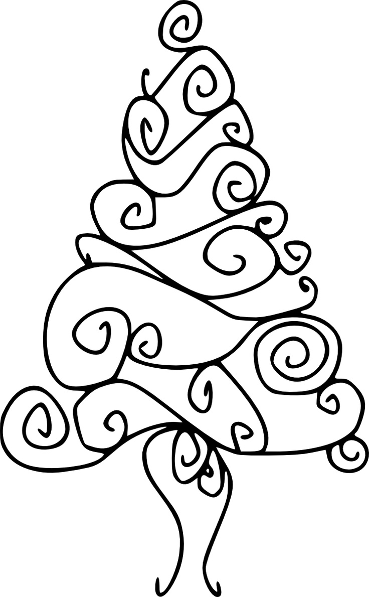736x1190 Drawn Christmas Ornaments Line Drawing
