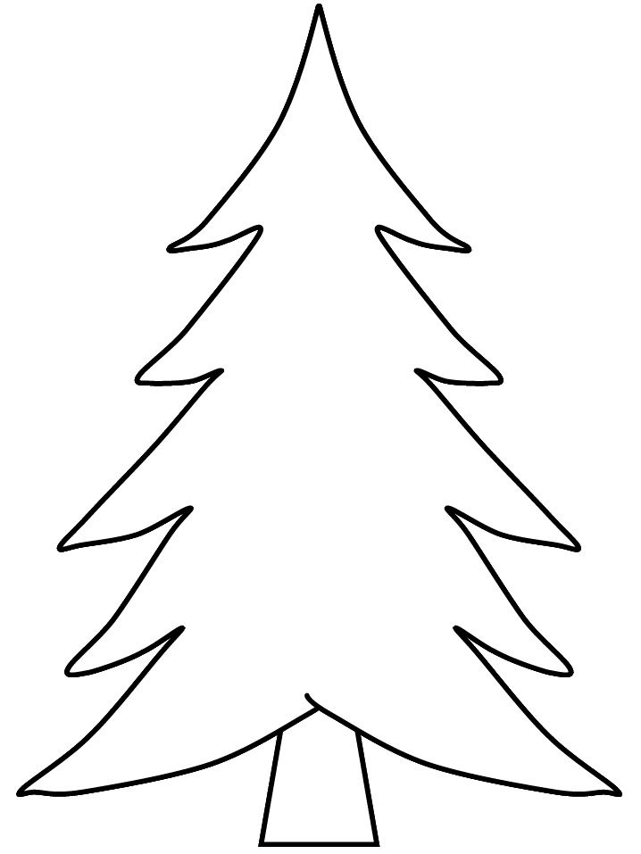 718x957 Tree Drawing Template Coloring Pages For Children Coloring