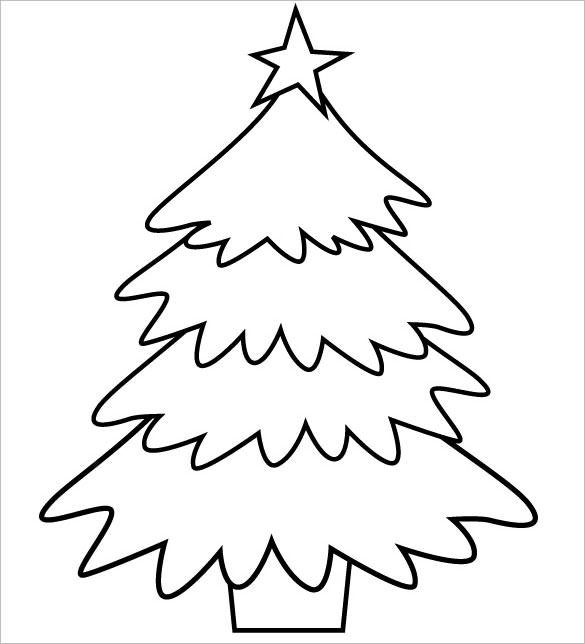 585x644 Christmas Tree Drawing Template 2017 Business Template