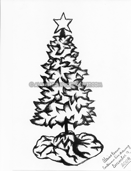 459x600 Christmas Tree Drawing Tumblr My Free Drawings Passing Views